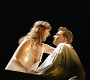 <span class=gallery-multiple>&lt;b&gt;Act 1&lt;/b&gt; The 'star-crossed lovers'. This play dramatises the story of two young people who fall deeply in love with each other. But an age-old feud between their families and the complex workings of fate bring about their destruction.|Look at this Romeo and Juliet. How far do they match your idea of two young people in love? How well would this image work as a publicity poster for the play?|Donald Cooper/Photostage</span>